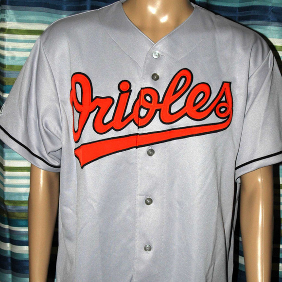 9ffc8a609 Majestic Other - Rare Majestic Mens ORIOLES Baseball Gray Jersey